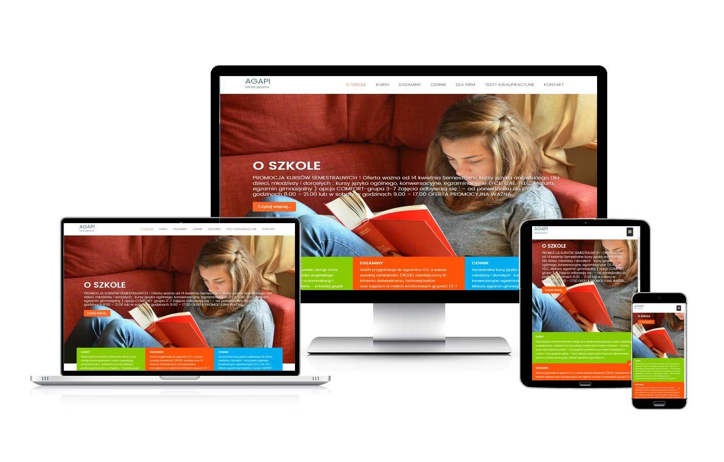 Strona internetowa dla szkoły języków