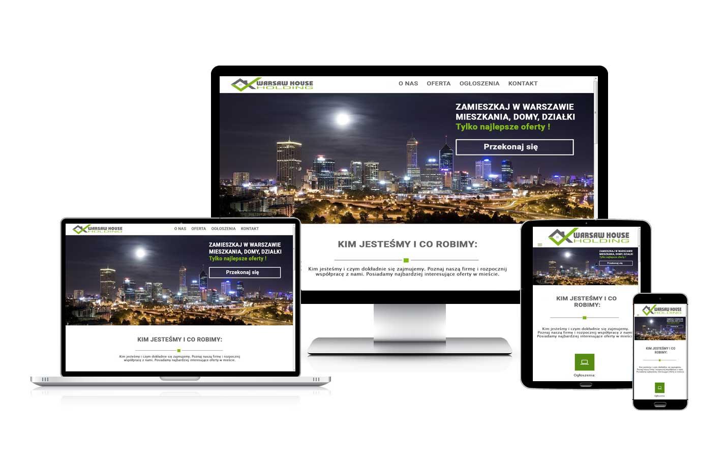 Strona internetowa wizytówka biura nieruchomości