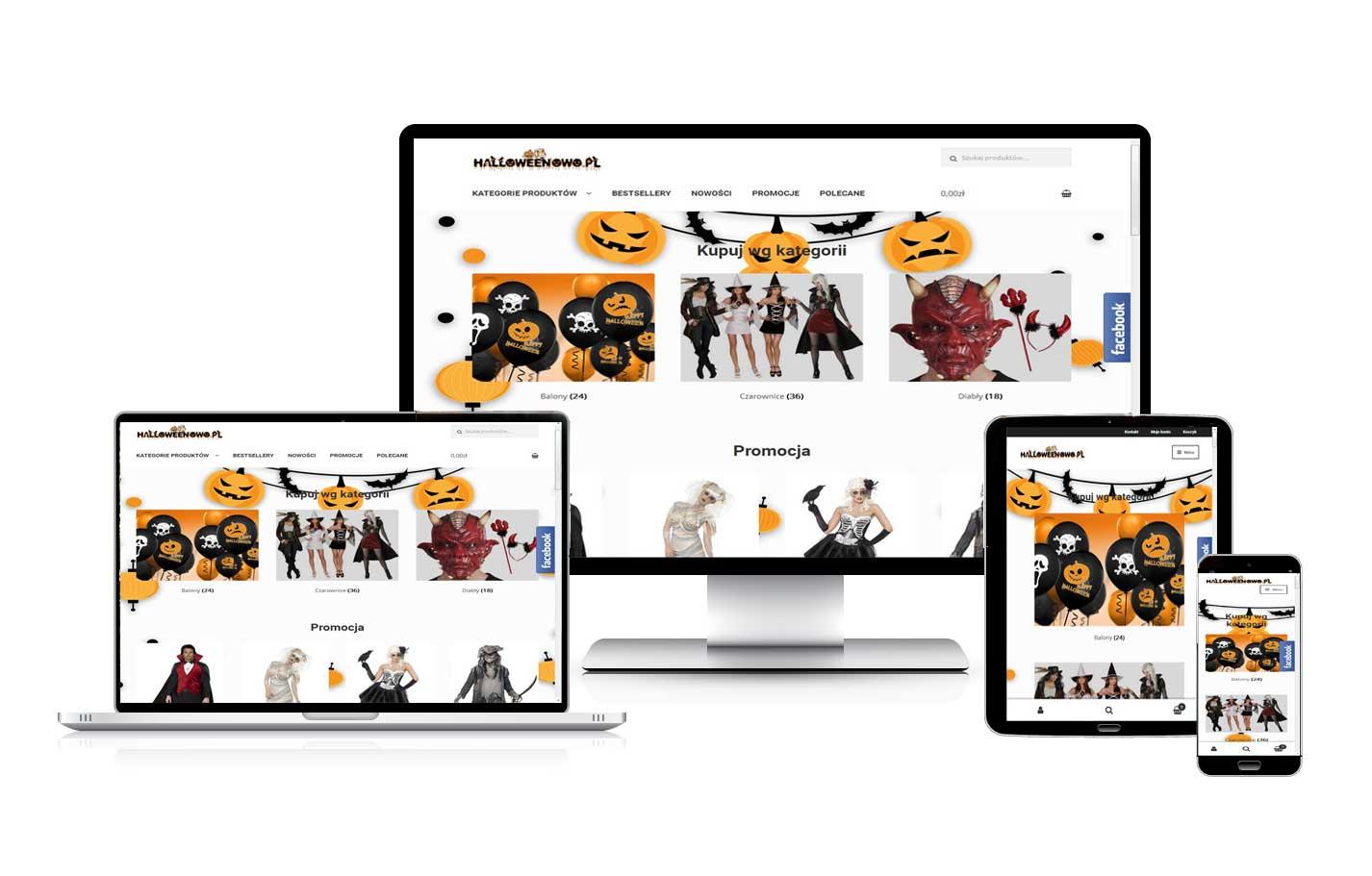 Tworzenie sklepów internetowych Halloweenowo.pl