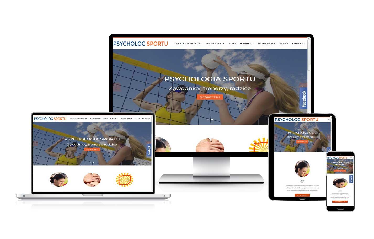 Strona internetowa blog dla psychologa sportowego