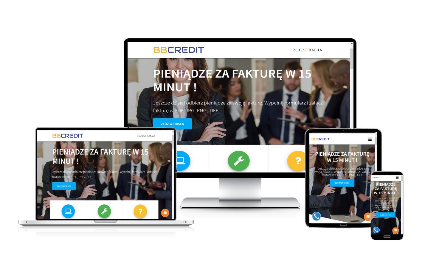 Strona internetowa wizytówka firmy faktoringowej