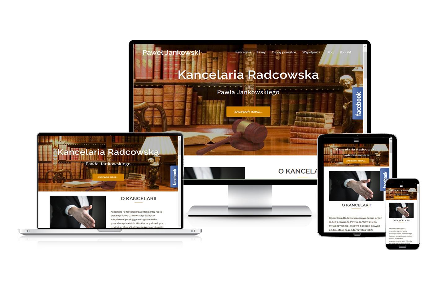 Strona internetowa kancelarii
