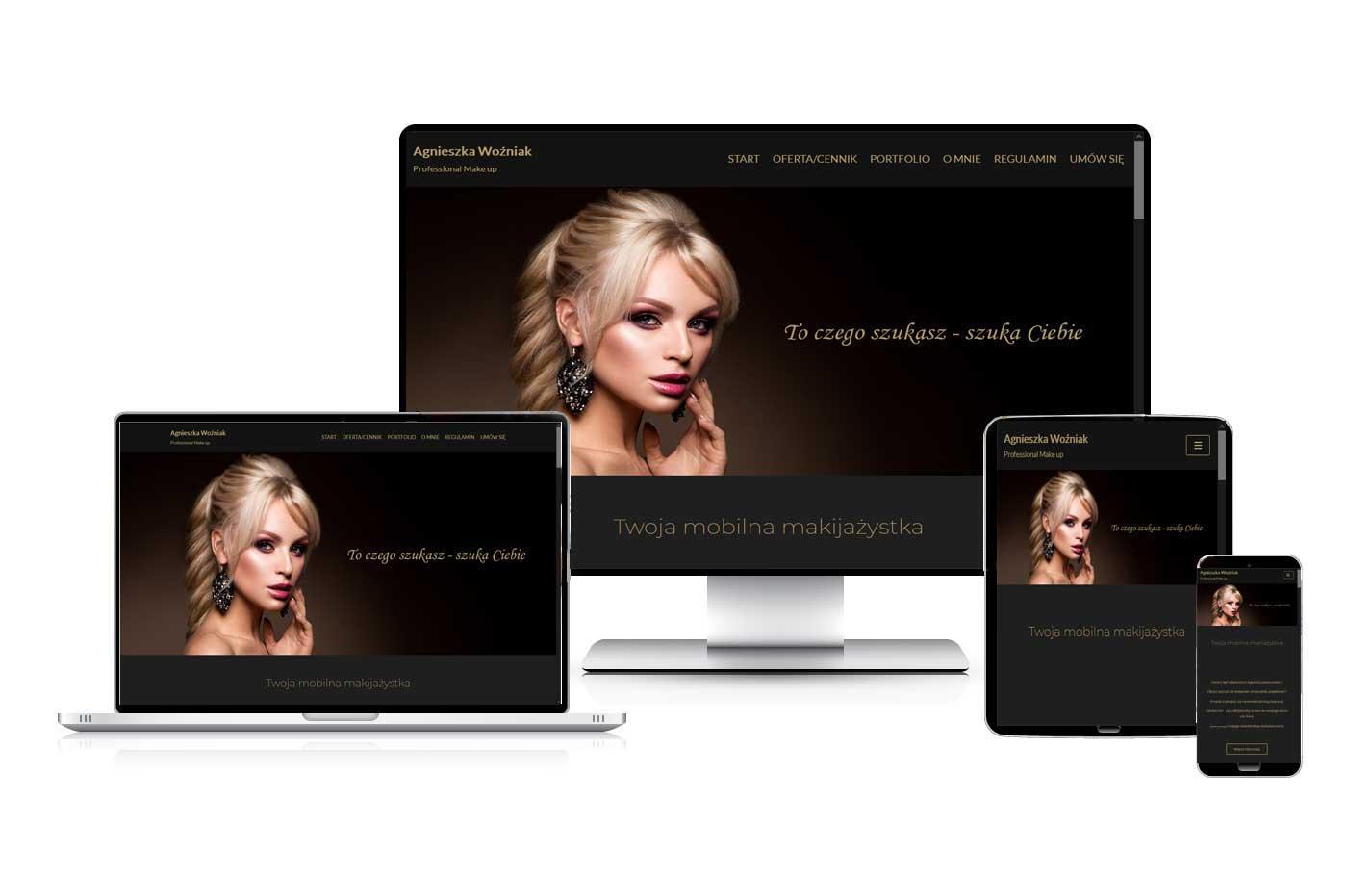 Strona internetowa dla studia makijażu