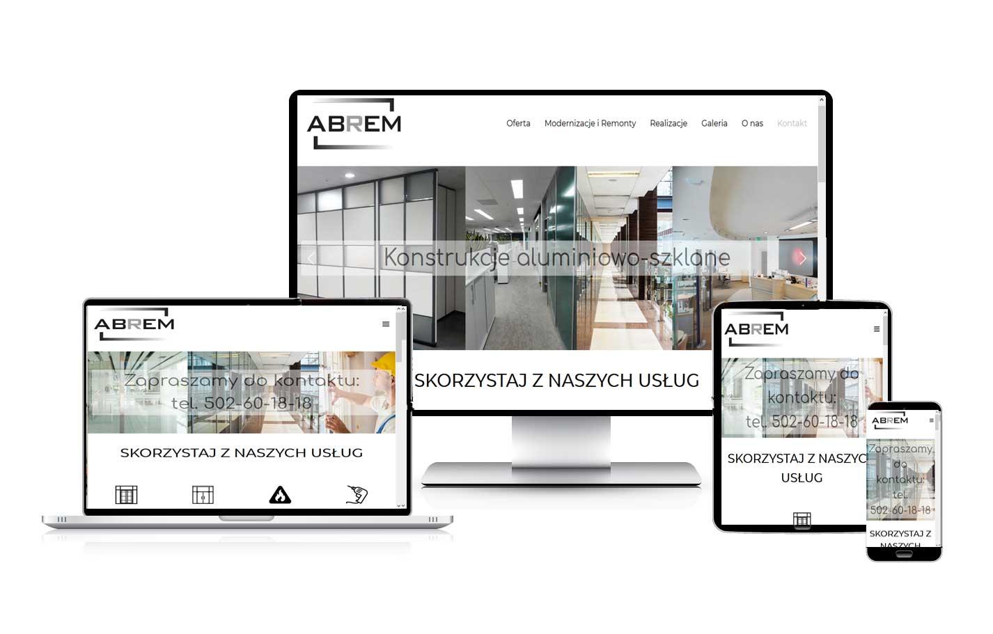 Tworzenie stron internetowych dla firm Strona dla firmy Abrem