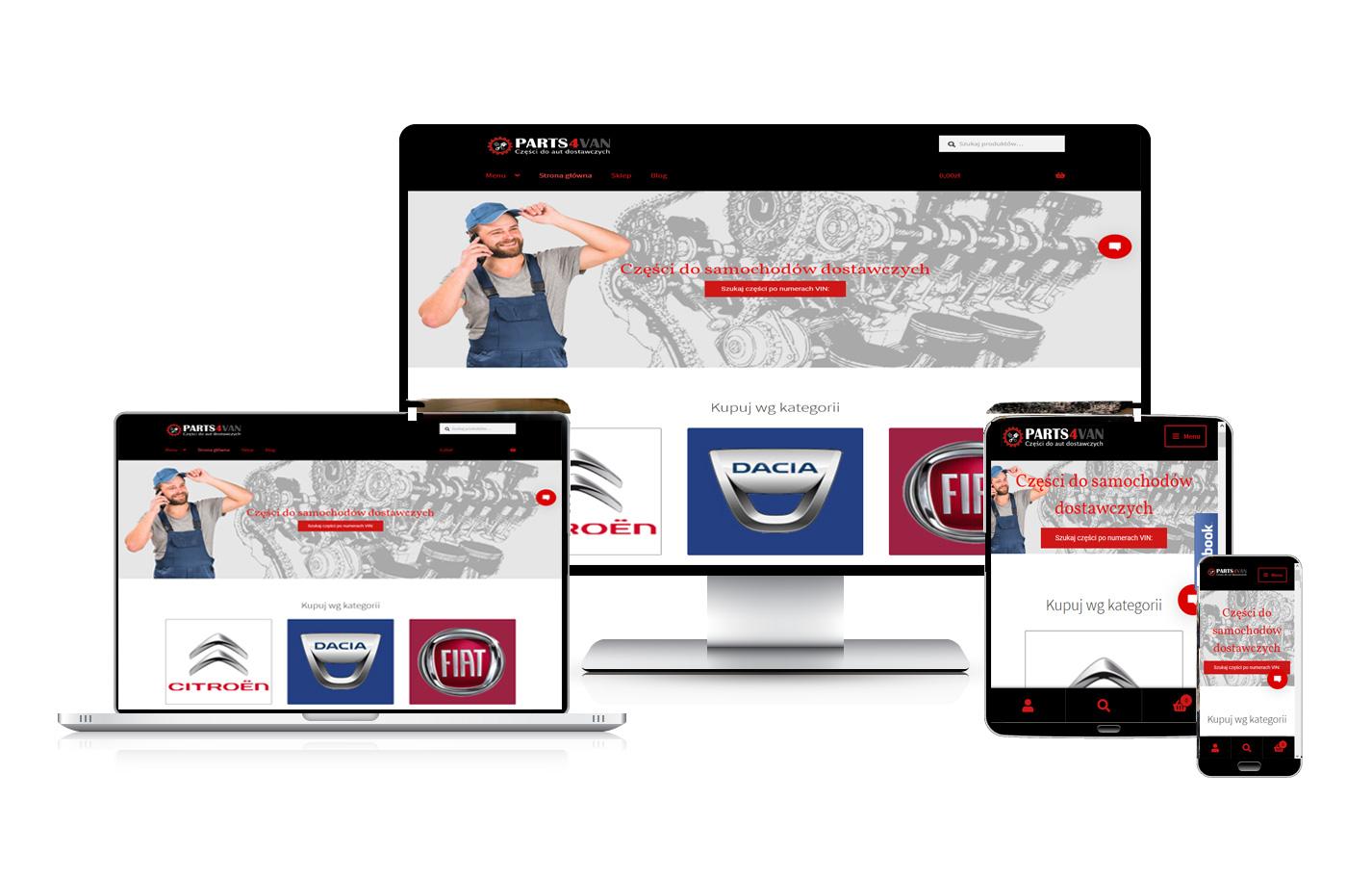 Tworzenie sklepów internetowych. Sklep motoryzacyjny e-dostawczaki.pl