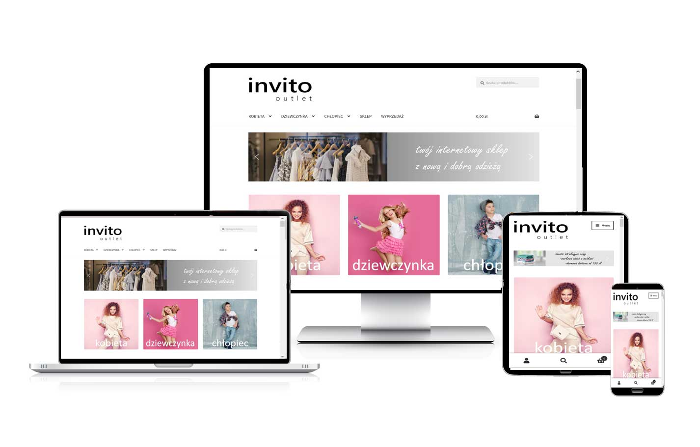 Tworzenie sklepów internetowych. Tworzenie stron internetowych. Sklep z odzieżą plus size