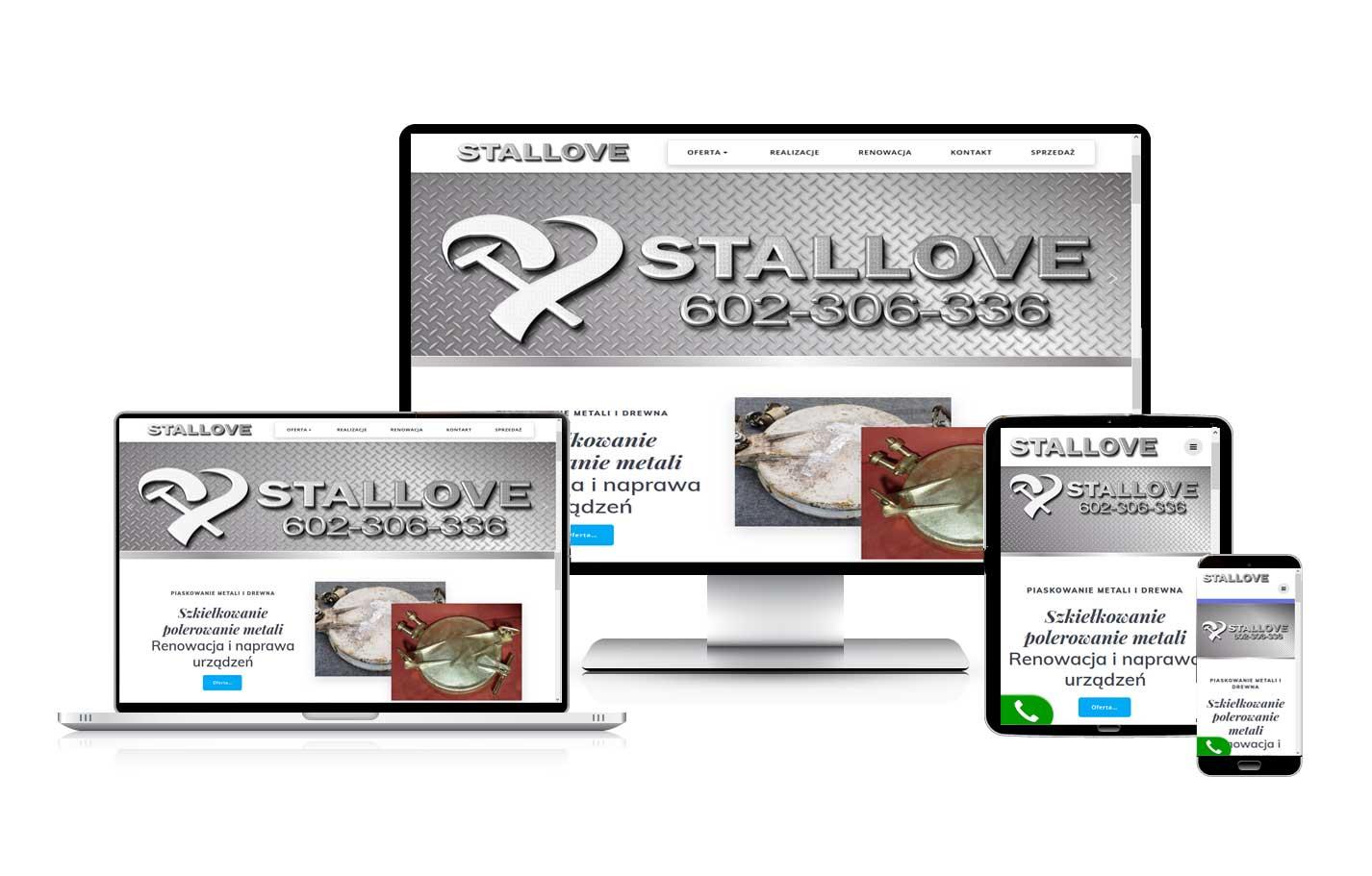 Tworzenie stron internetowych Stallove strona wizytówka z blogiem