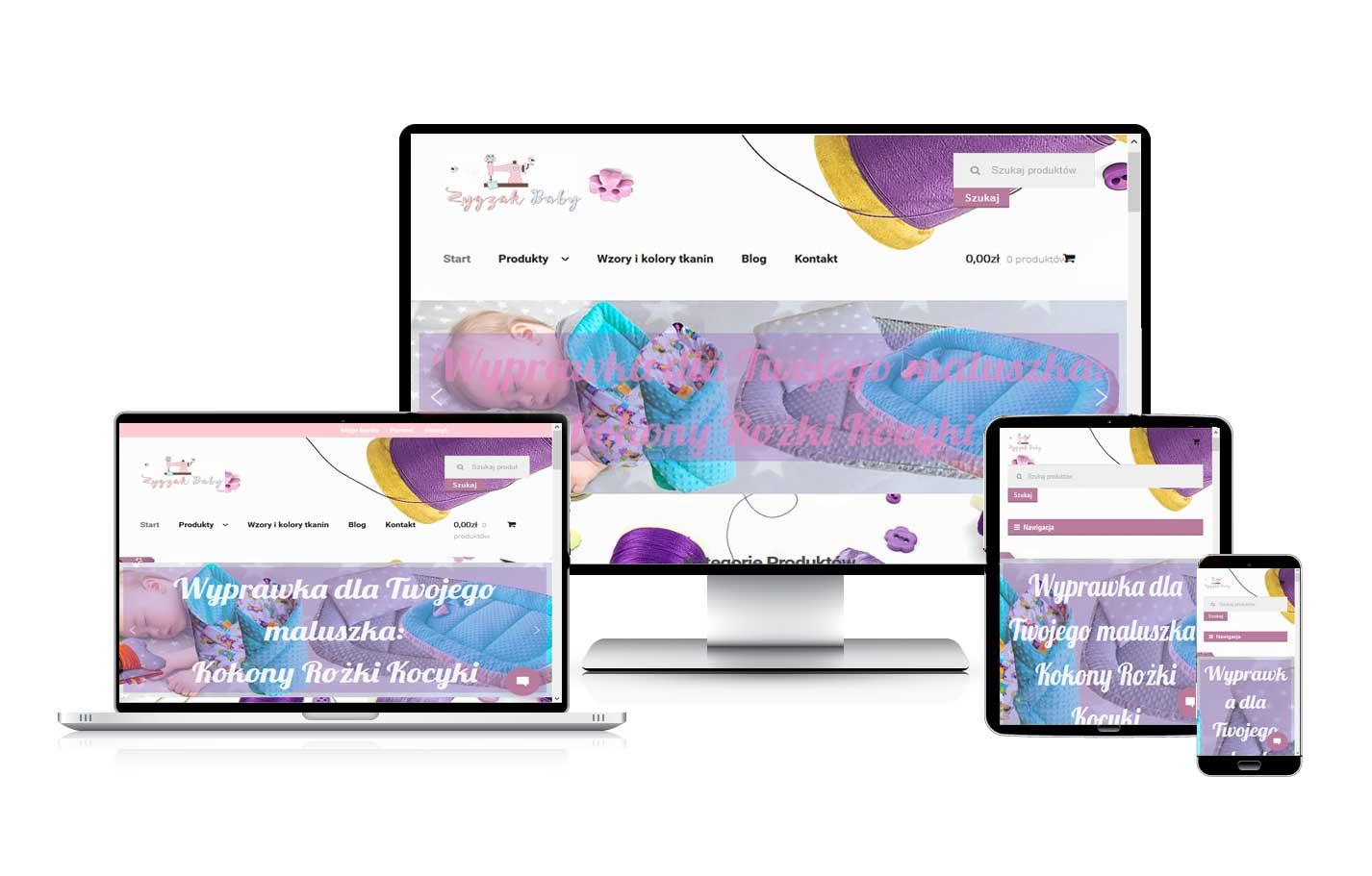 Tworzenie sklepów internetowych Sklep z pościelą dla dzieci